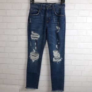 Carmar High Waisted Distressed Jeans B23